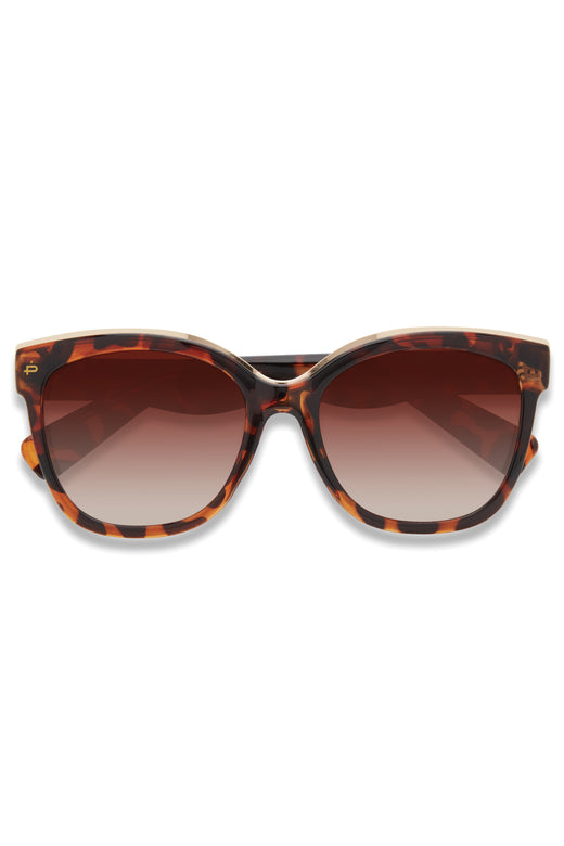 Lovey Dovey Oversized Cat Eye Black Sunglasses