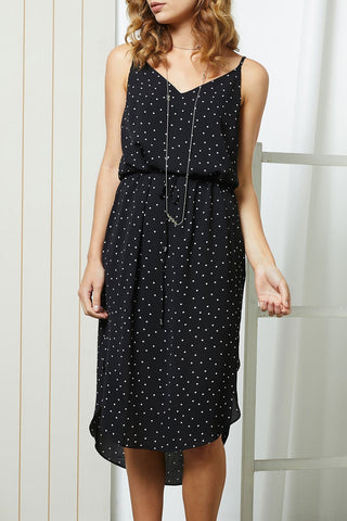 LOYAL Midi Black Spot Dress