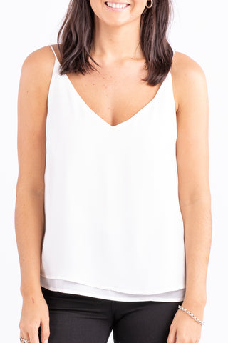 Lulu Ivory Double Layer Cami