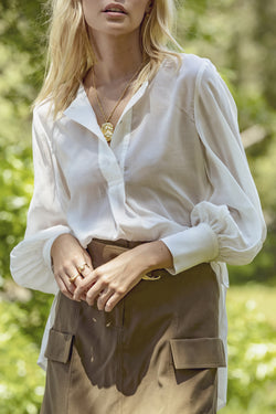 Luminescent Floaty Ivory Shirt
