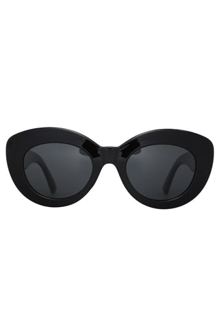 Marmont Chunky Cat Eye Black Polarised Sunglasses