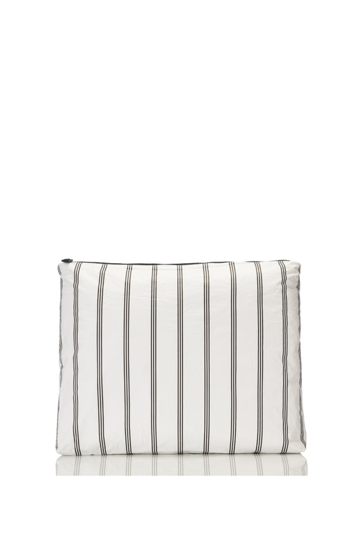 Large Charter Black and White Stripe Pouch