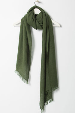 Merino Woven Forest Green Scarf