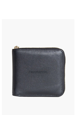 Midway Black Square Wallet