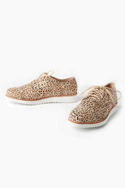 Mila Honey Leopard Lace Up Sneaker