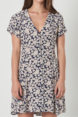Milla SS Button Up Day Daisy Ink Dress