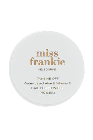 Water Based Aloe + Vitamin E Nailpolish Wipes