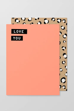 Love You Half Fluro Greeting Card