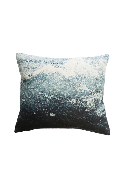 Manly Linen Cushion with Feather Inner Teal Multi 45x55cm