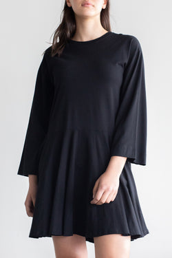 Margin Shift Black LS Dress