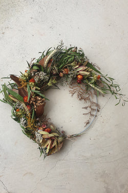 Medium Dried Flower Wreath 30cm Autumn