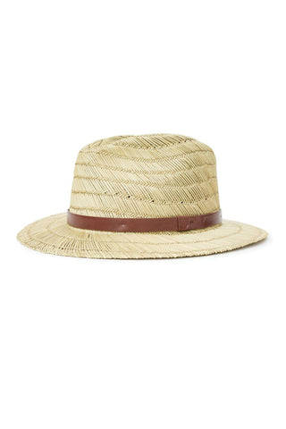 Messer Tan Straw Fedora Hat