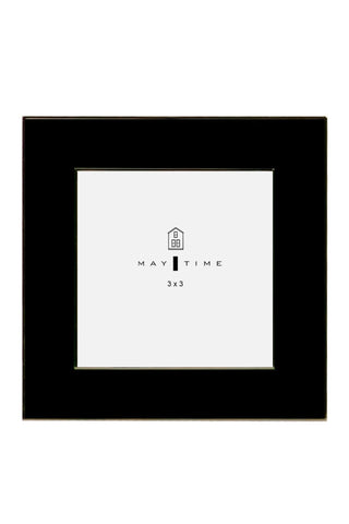 Metal Square Frame Black 3x3