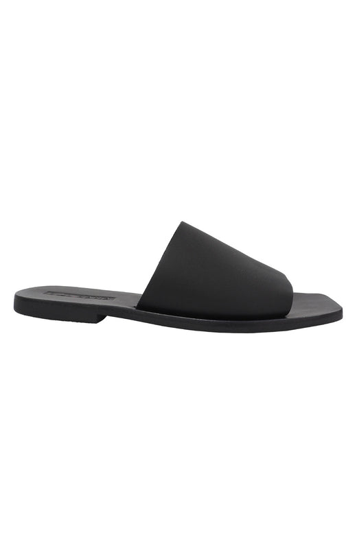 Mila Leather Black Slide