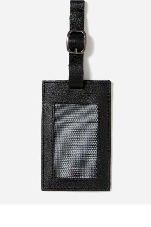 Miles Black Luggage Tag