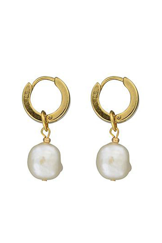 Mini Pearl Gold Sleeper Earrings