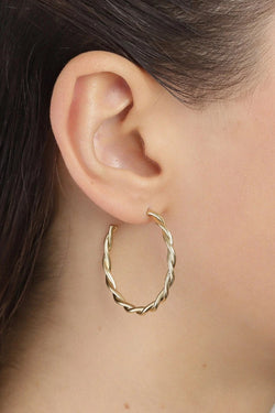 Naja Gold Plated Twisted Hoops