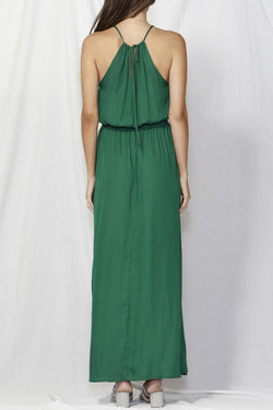 Naples Halter Green Maxi Dress