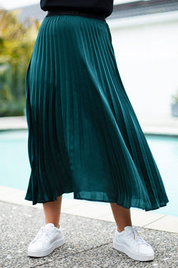 New York Forest Wavy Soft Pleated Skirt