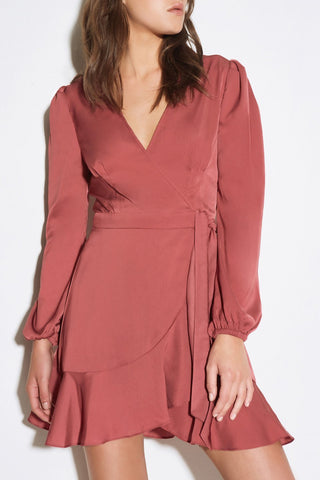 Rooftop Marsala LS Dress