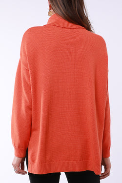Amelia Tangello High Neck Cable Knit