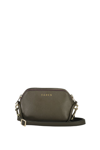 Odile Olive Rectangle Leather Shoulder Bag