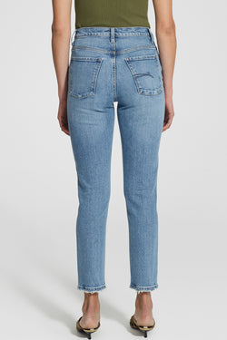 Kennedy Modern High Straight Leg Blue Jeans