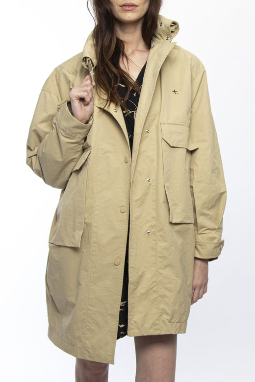 Places Sand Trench Coat