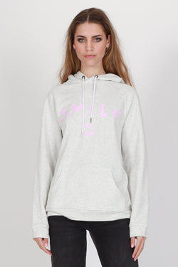 Present White Marle with Pink Smile Hoodie