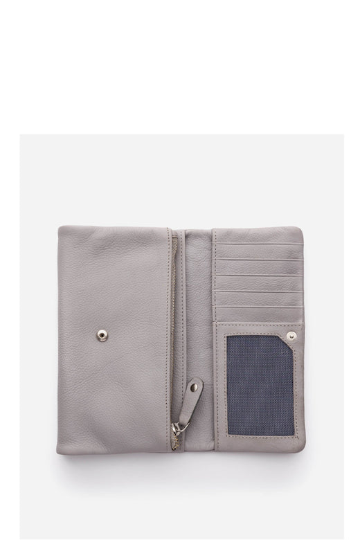 Paiget Misty Grey Foldover Wallet