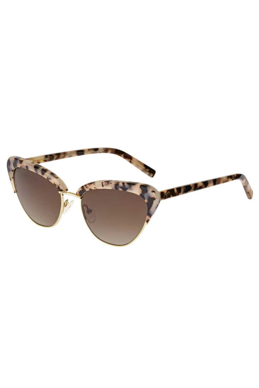 Peggy Beige Tort Brown Gradient Cat Eye Polarised Sunglasses