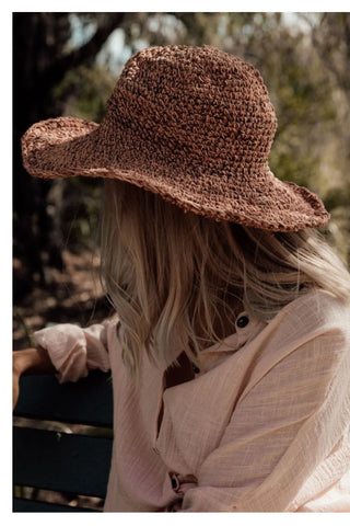 Hand Woven in Nepal Peony Polly Sun Hat
