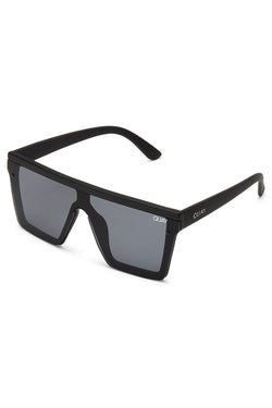 Hindsight Sunglasses Black Gold with Smoke Lens