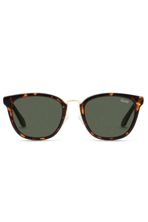 Run Around Tort with Green Lens Sunglasses