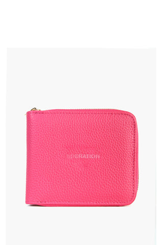 Midway Raspberry Square Wallet