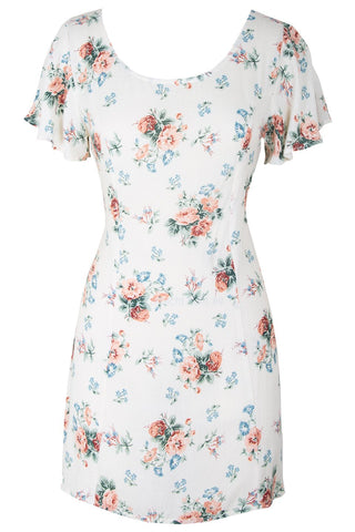 Rose Sophia White Floral Mini Dress