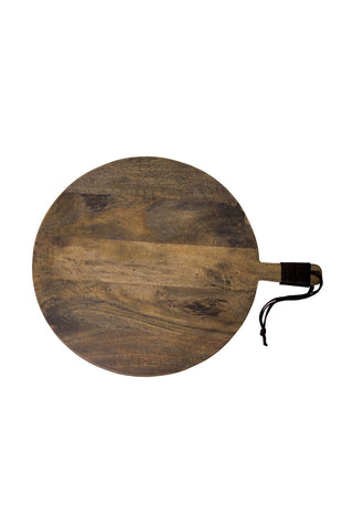 Round Wood Grey Wash Cheeseboard 485mm