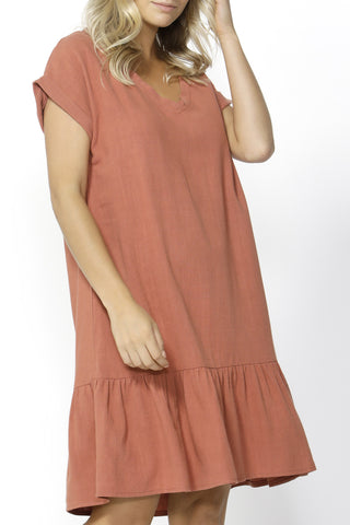 Ryland Rose Shift Ruffle Dress