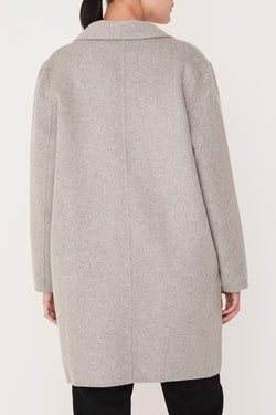 Boxy Wool Grey Marle Coat