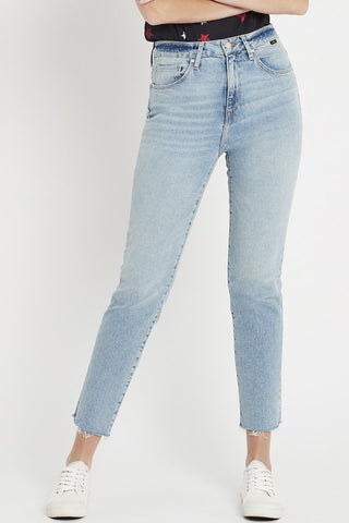 Lea HR Mid Shaped 90s Stretch Light Blue Jean