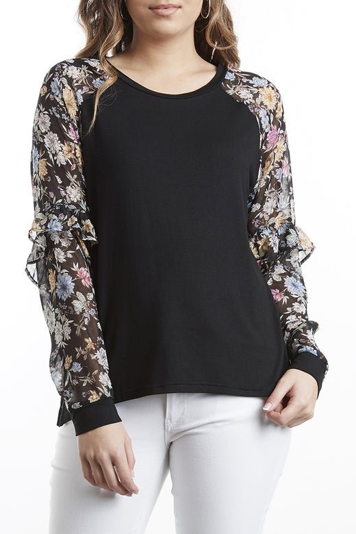Miracle English Garden Frill Sleeve Top