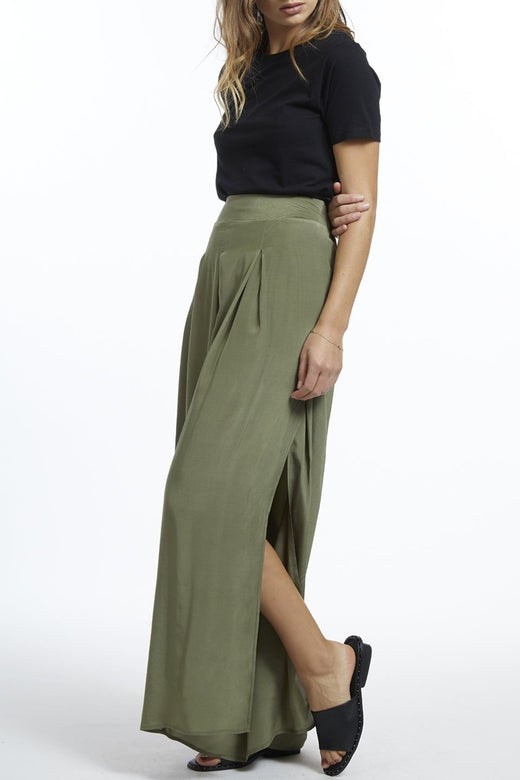 Annie Side Split Khaki Pant