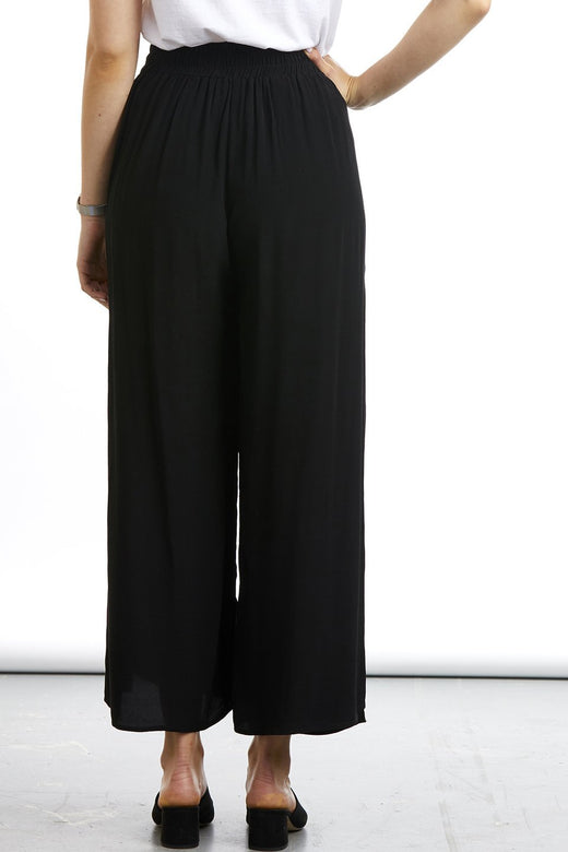 Annie Side Split Black Pant