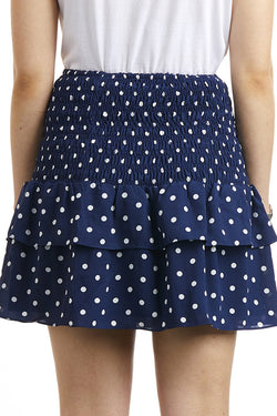 Millie Shirred Ink Spot Skirt