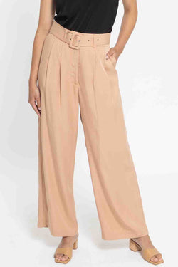 Georgie Tan Wide Leg Pants