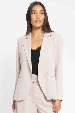 Georgie Adelaide Stone Double Breasted Blazer