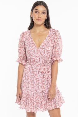 Cleo Rose SS Frill Hem Dress
