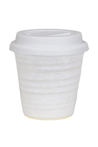 Carousel Ceramic White Coffee Cup 280ml