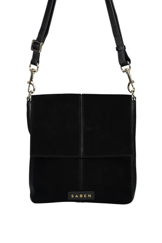 Harland Suede Shoulder Bag Black