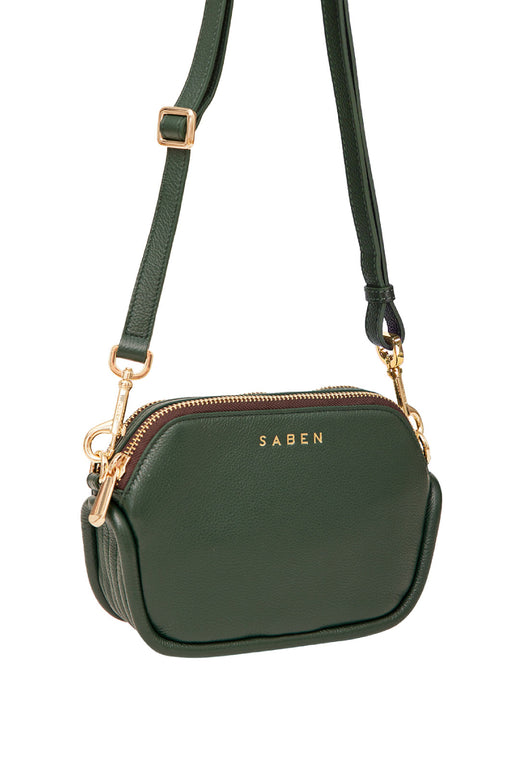 Odile Highland Green Rectangle Shoulder Bag